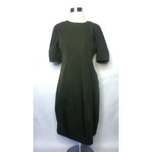 COS Olive Green Asymmetrical Styleline Dress
